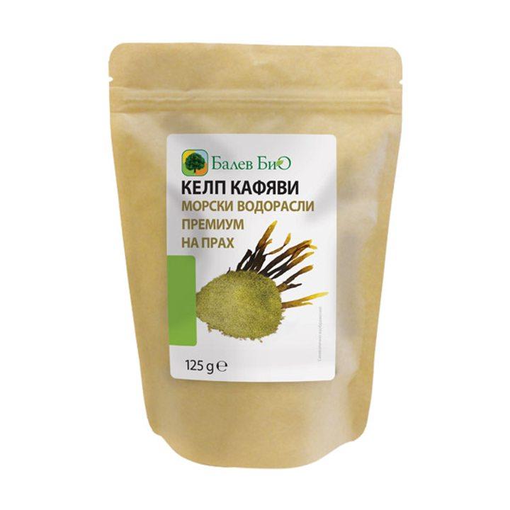 Келп - кафяви морски водорасли Премиум на прах 125г
