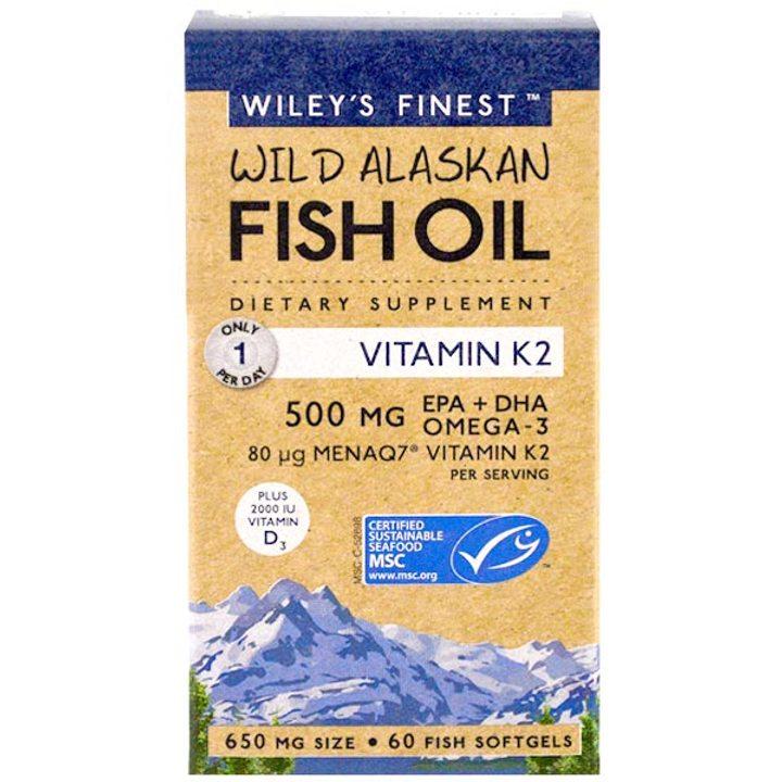 Рибено масло Омега 3 + Витамин К2 60 капсули