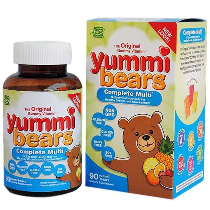 Мултивитамини и минерали Yummi Bears 90бр.