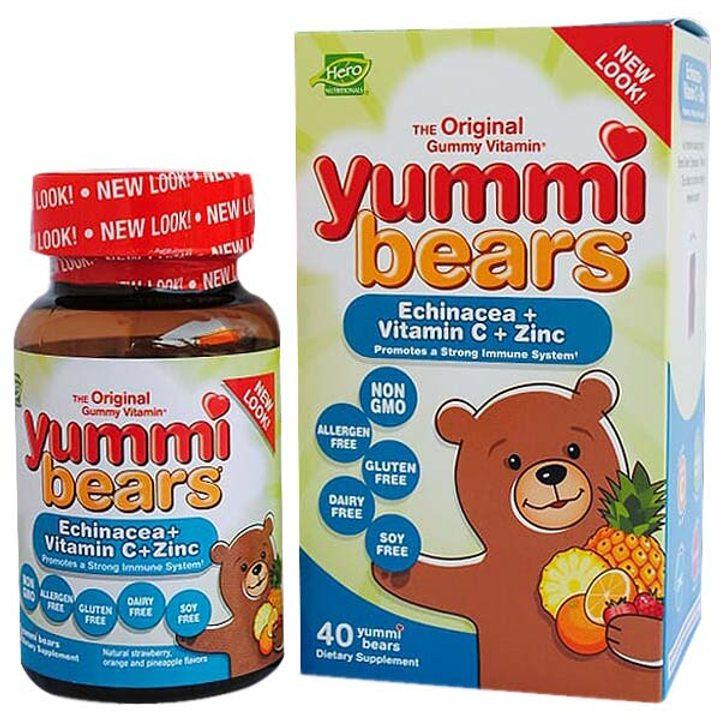 Ехинацея + витамин C и цинк Yummi Bears 40бр.