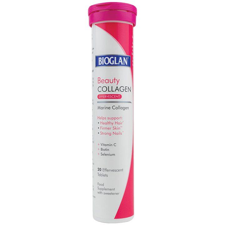 Биоглан бюти колаген 20 ефервесцентни таблетки