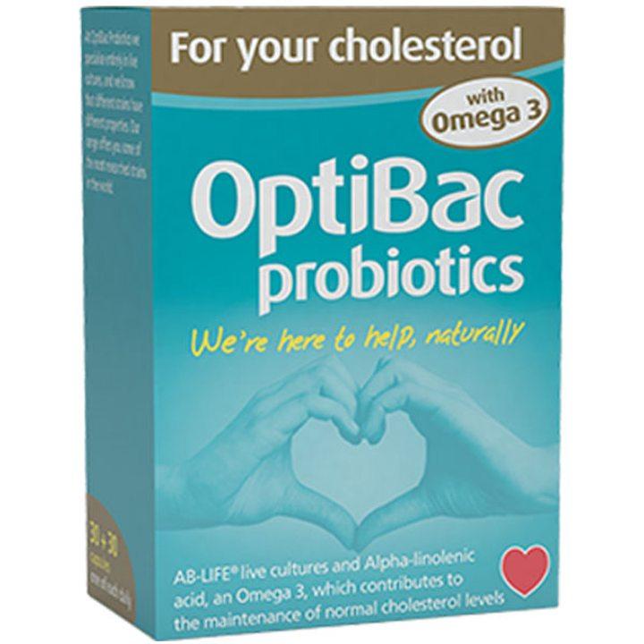 Пробиотик с Омега 3 за поддържане на нормални нива на холестерола 30 + 30 капсули