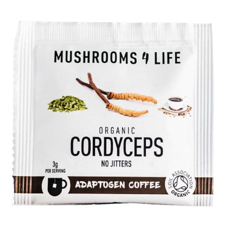 Био адаптогенно кафе на прах с витална гъба кордицепс 1 саше 3г