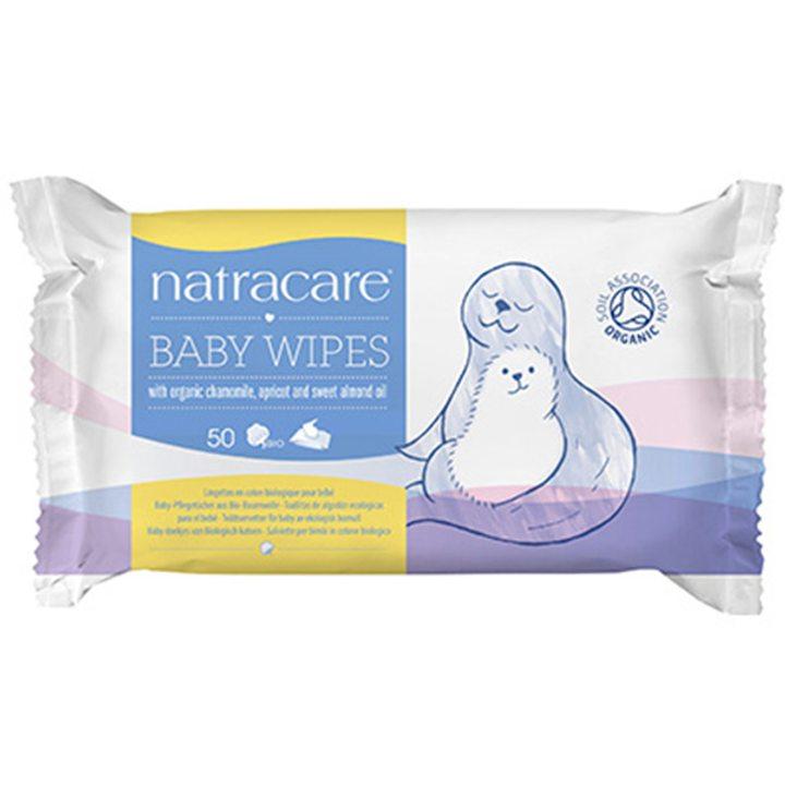 Органични бебешки кърпички 50 бр.
