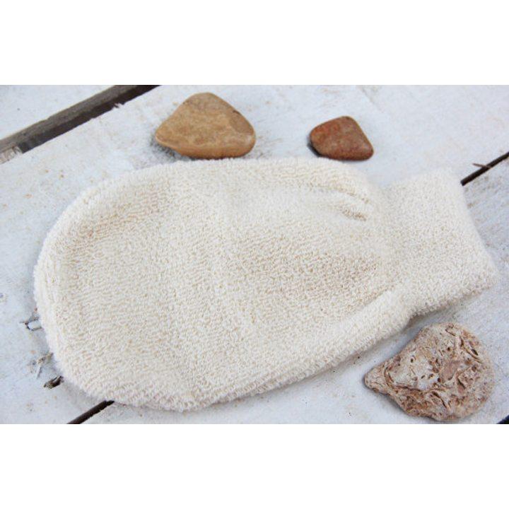 Ексфолираща ръкавица - масажор от био памук
