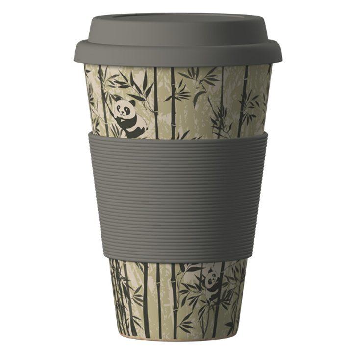 Еко чаша от бамбук Панди 400мл