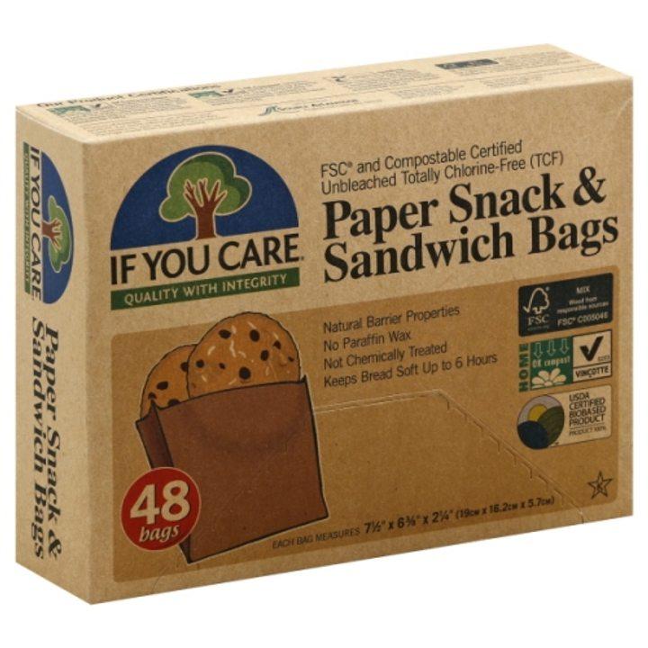 Биоразградими хартиени пликове за закуски и сандвичи 48бр.