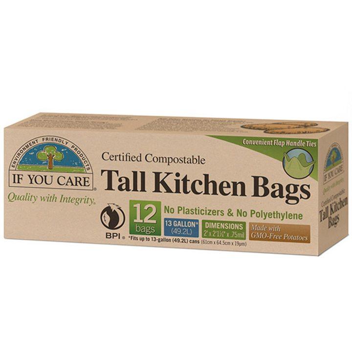 Биоразградими торби за хранителни отпадъци 12бр., 49,2л