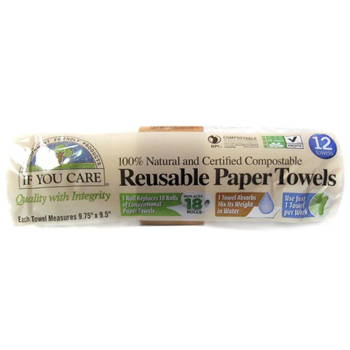 Биоразградими хартиени кърпи за многократна употреба 12бр.