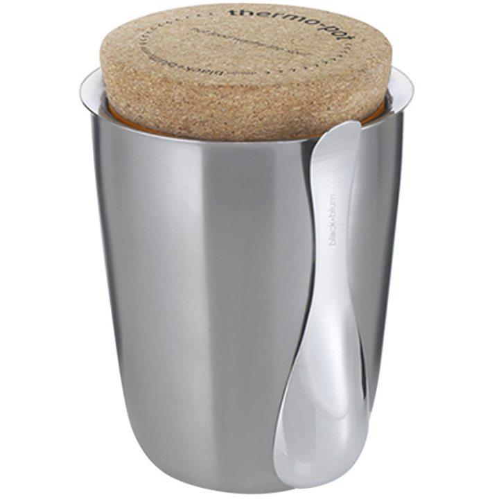 Кутия за храна Ф12см, стомана, корк 500мл