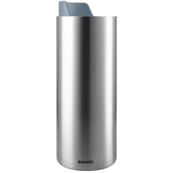 Чаша за път стомана, пластмаса, синя 350мл