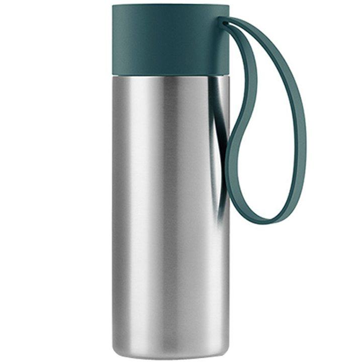 Чаша за път стомана, пластмаса, силикон, петрол 350мл