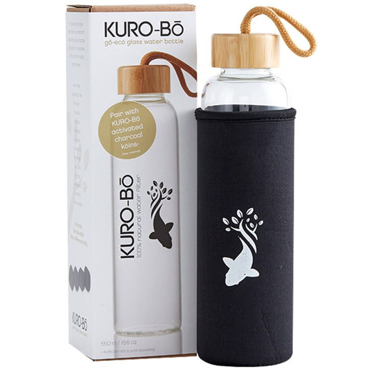 Стъклена бутилка за вода GO-ECO 550мл