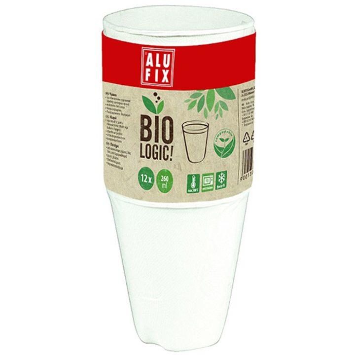 Биоразградима чаша 260мл 12бр.