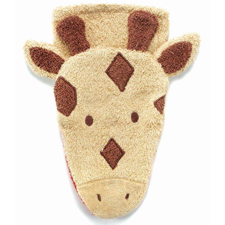 Детска гъба тип тривка за баня от органичен памук Жираф