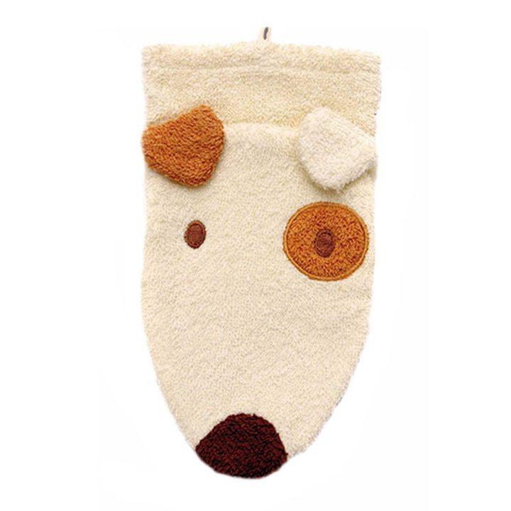 Детска гъба тип тривка за баня от органичен памук Куче малка