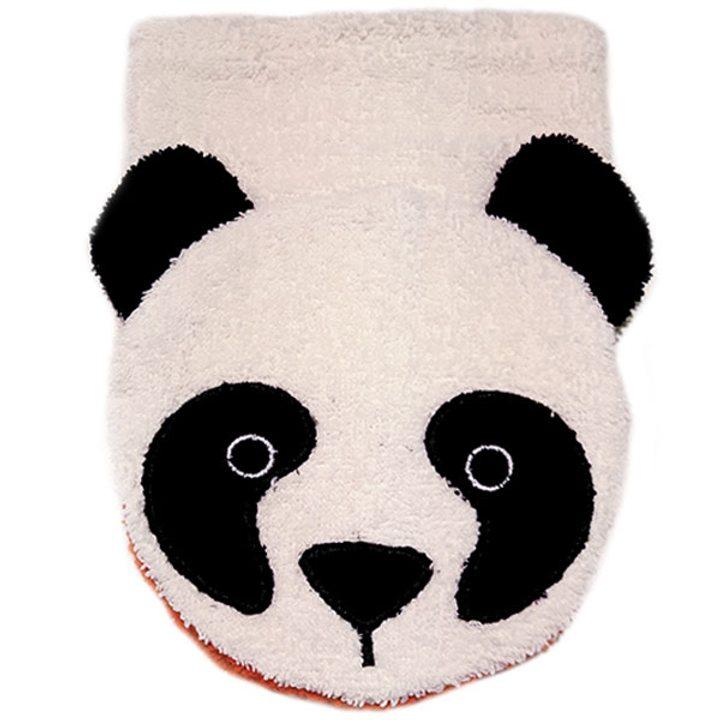 Детска гъба тип тривка за баня от органичен памук Панда