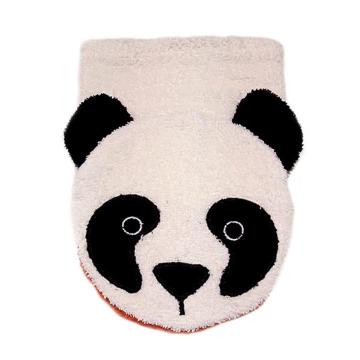 Детска гъба тип тривка за баня от органичен памук Панда малка