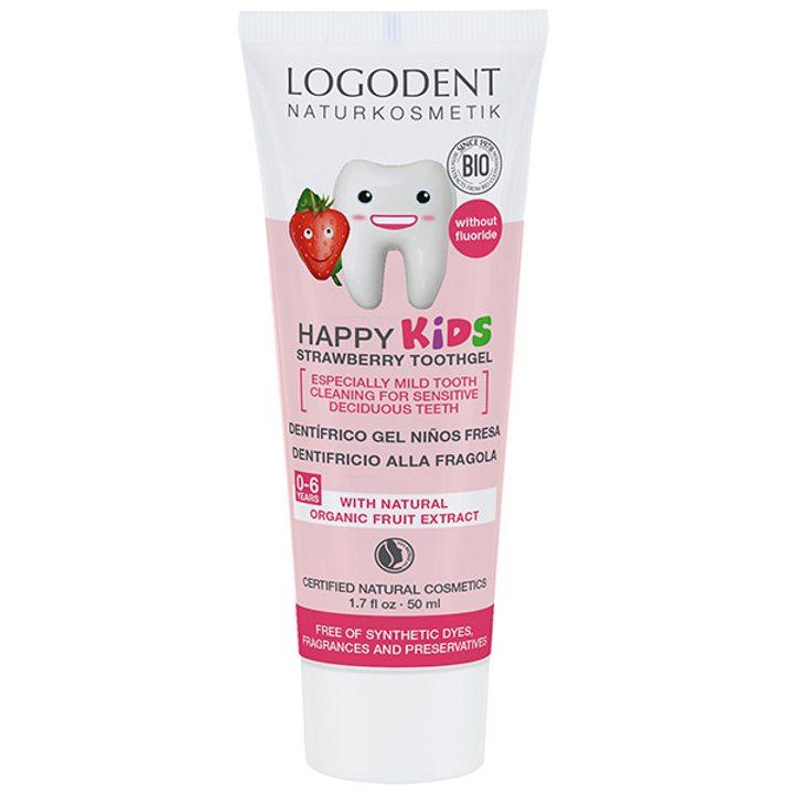 Органична паста за зъби детска ягода 50мл