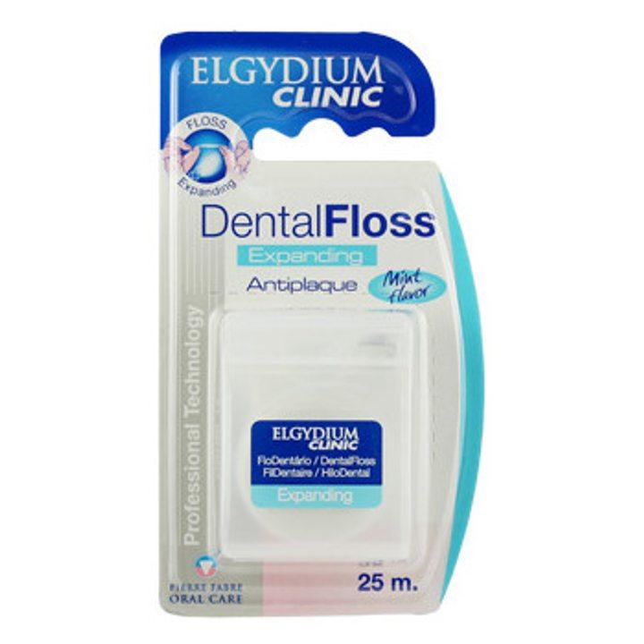 Еластичен конец за зъби - бял