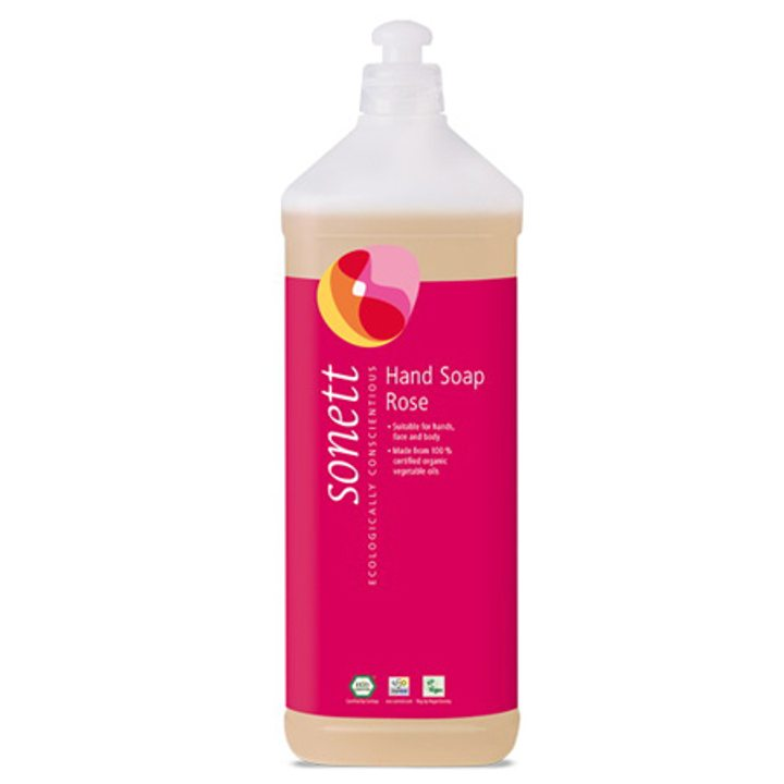 Еко течен сапун роза 1л