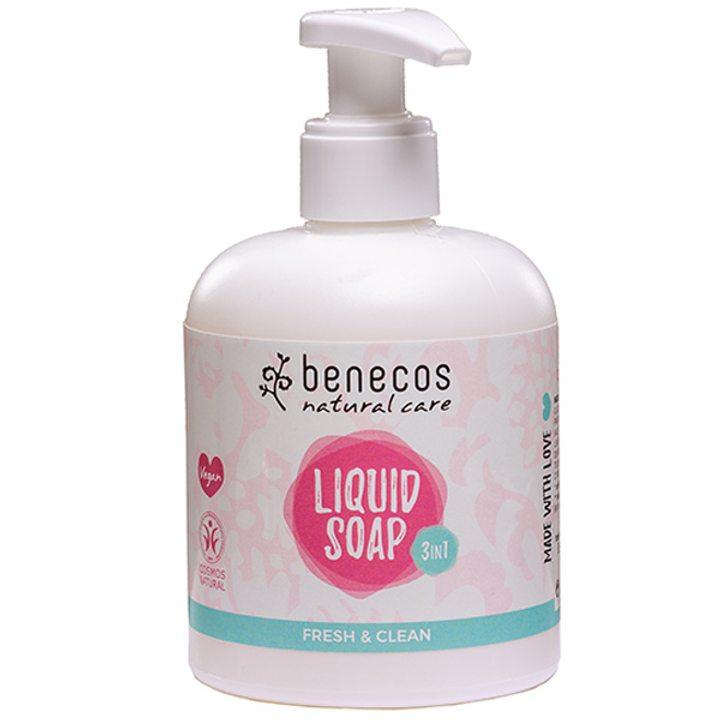 Натурален течен сапун 3 в 1 свежест 300мл