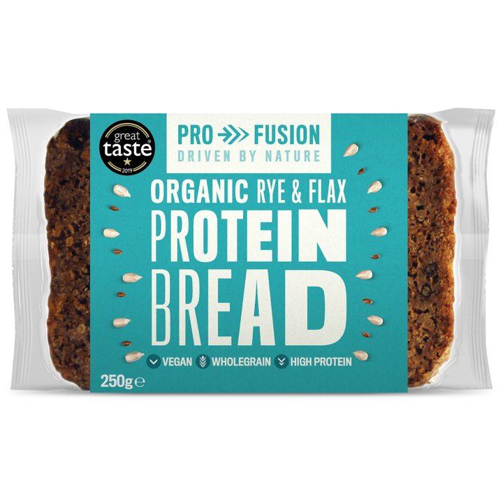 Био протеинов хляб с ръж и ленено семе 250г